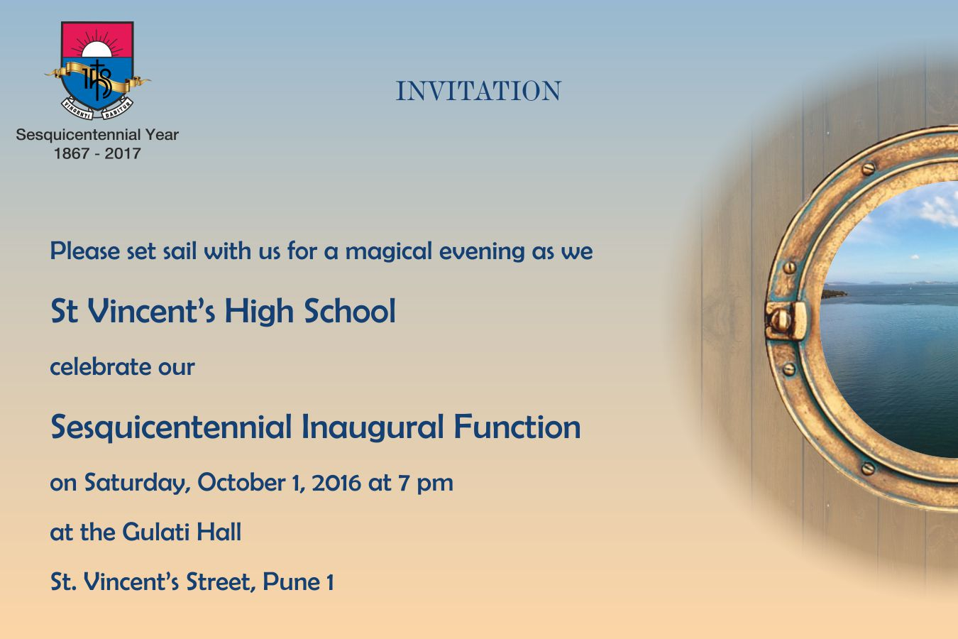 Invitation - Inaugural Function